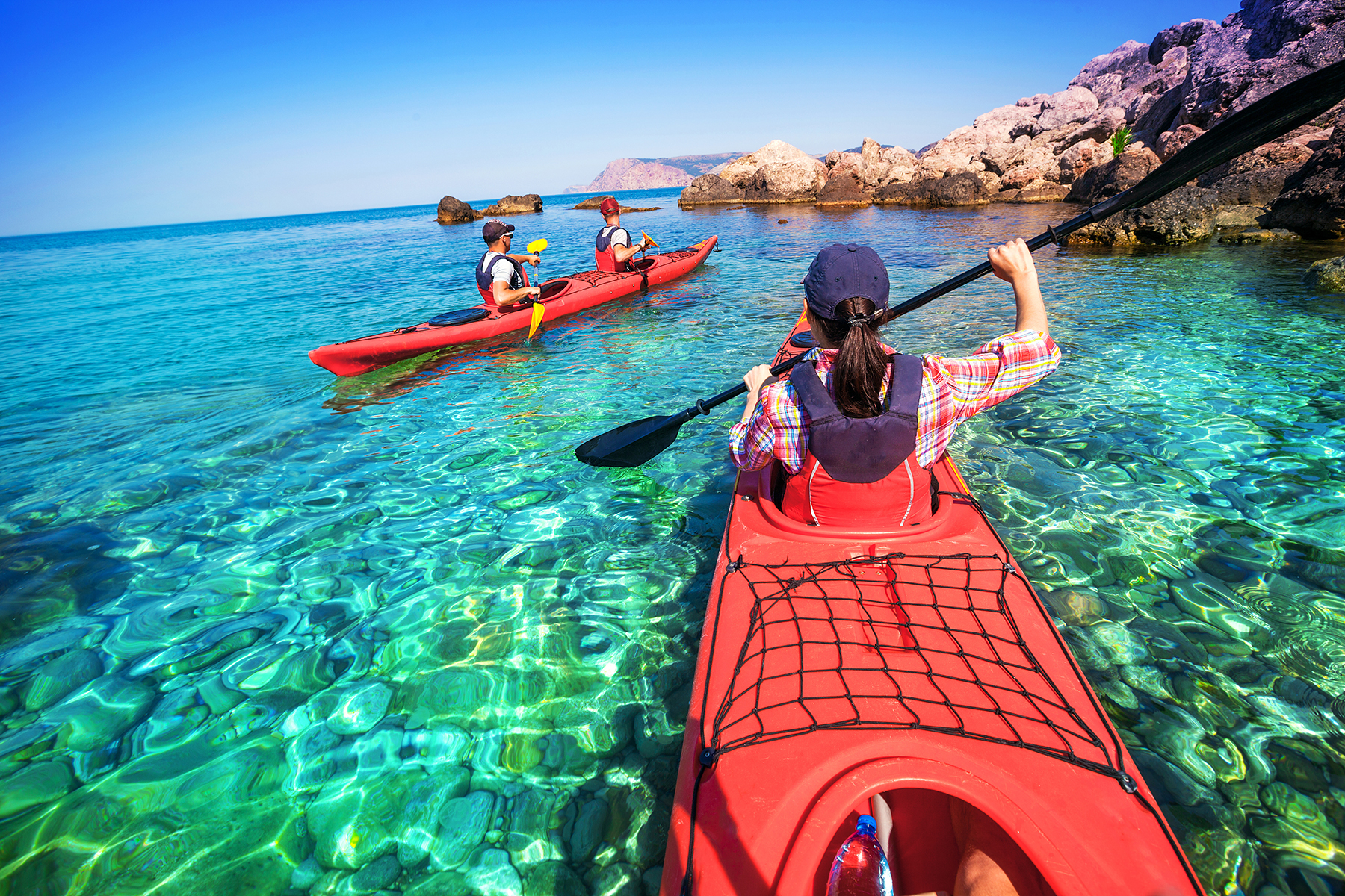 Canoing with kayak